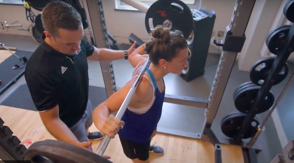 Jillian Saulnier trains under the supervision of Scott Willgress, the lead strength and conditioning consultant at Canadian Sport Centre Atlantic.