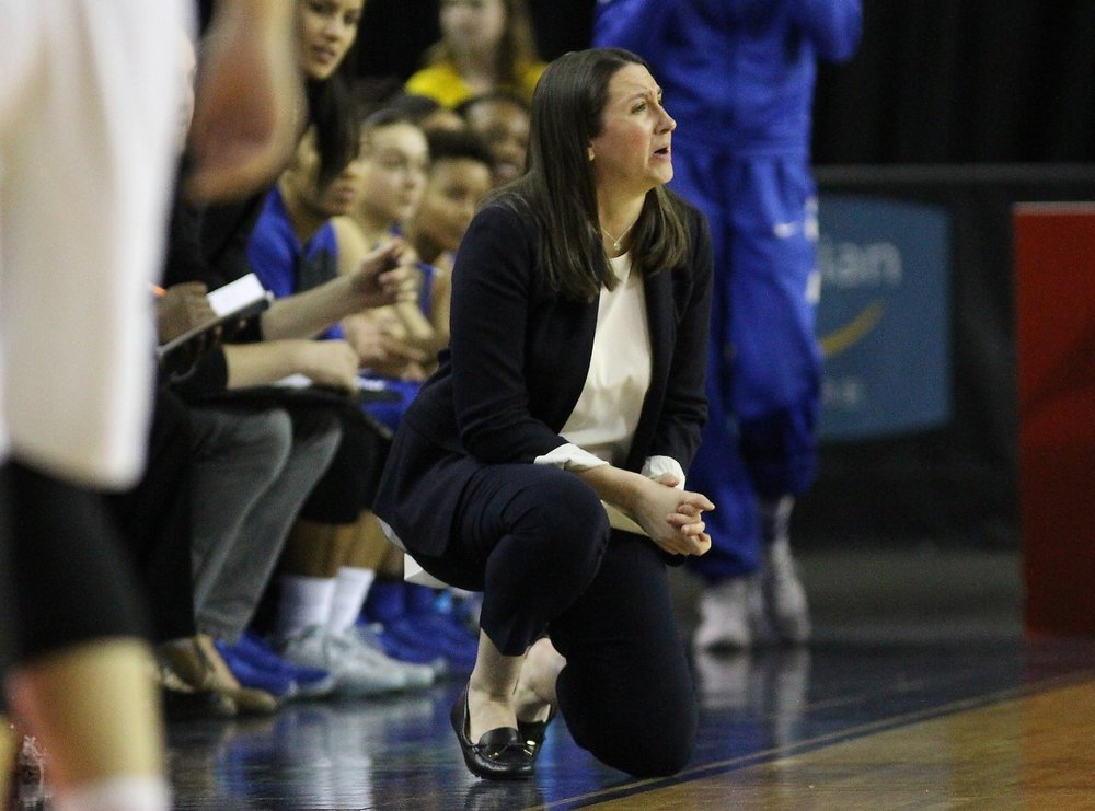 Ryerson Rams coach Carly Clarke works to keep her players focused on the process and daily improvement rather than the long-term outcome. (All Carly Clarke photos by Alex D'Addese)