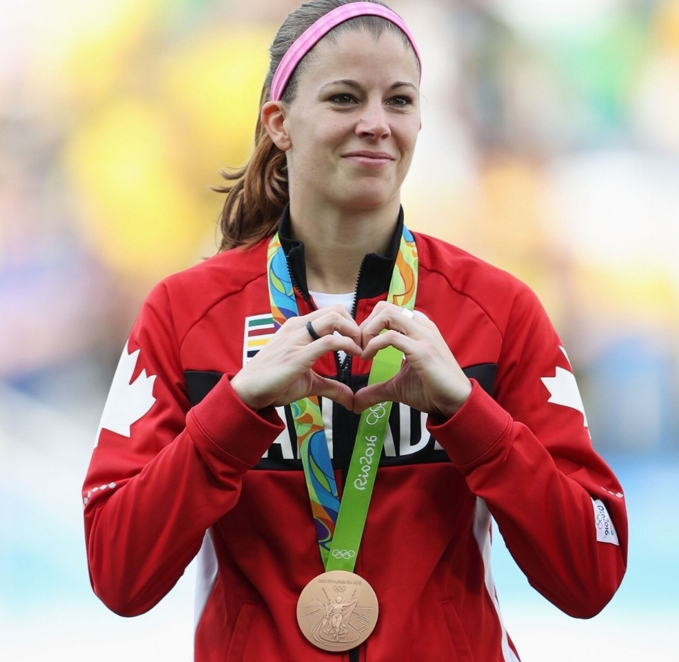 Soccer goalkeeper Stephanie Labbé won bronze with Canada at the 2016 Rio Olympics.
