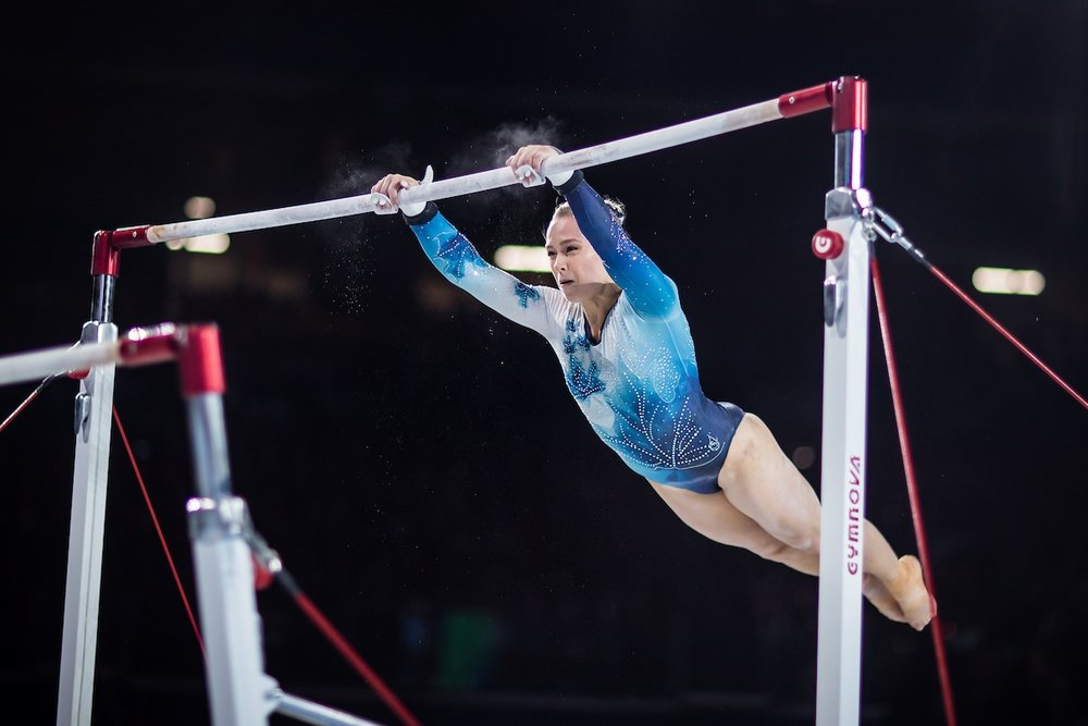 Ellie Black competes at the recent world championships in Montreal. (Gymnastics Canada/Antoine Saito).