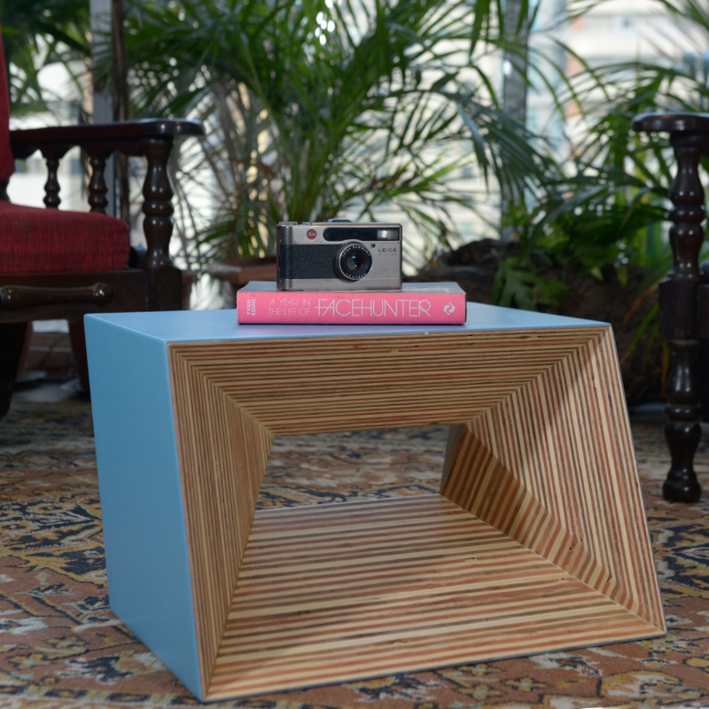 The Plywood Stool as side table