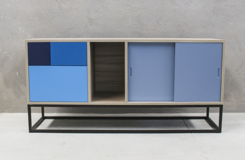 Blue Real Sideboard: Our sales champion, and is still made with sustainable raw material