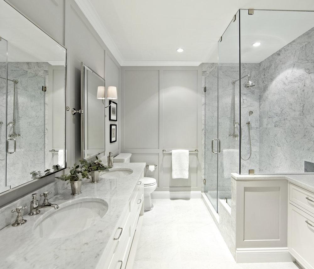 Westchester Master Bath: West Village Waterfront