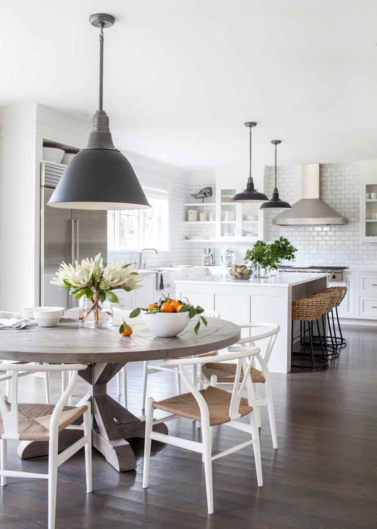 westport modern farmhouse chango co westport modern farmhouse by chango co informal dining into kitchen