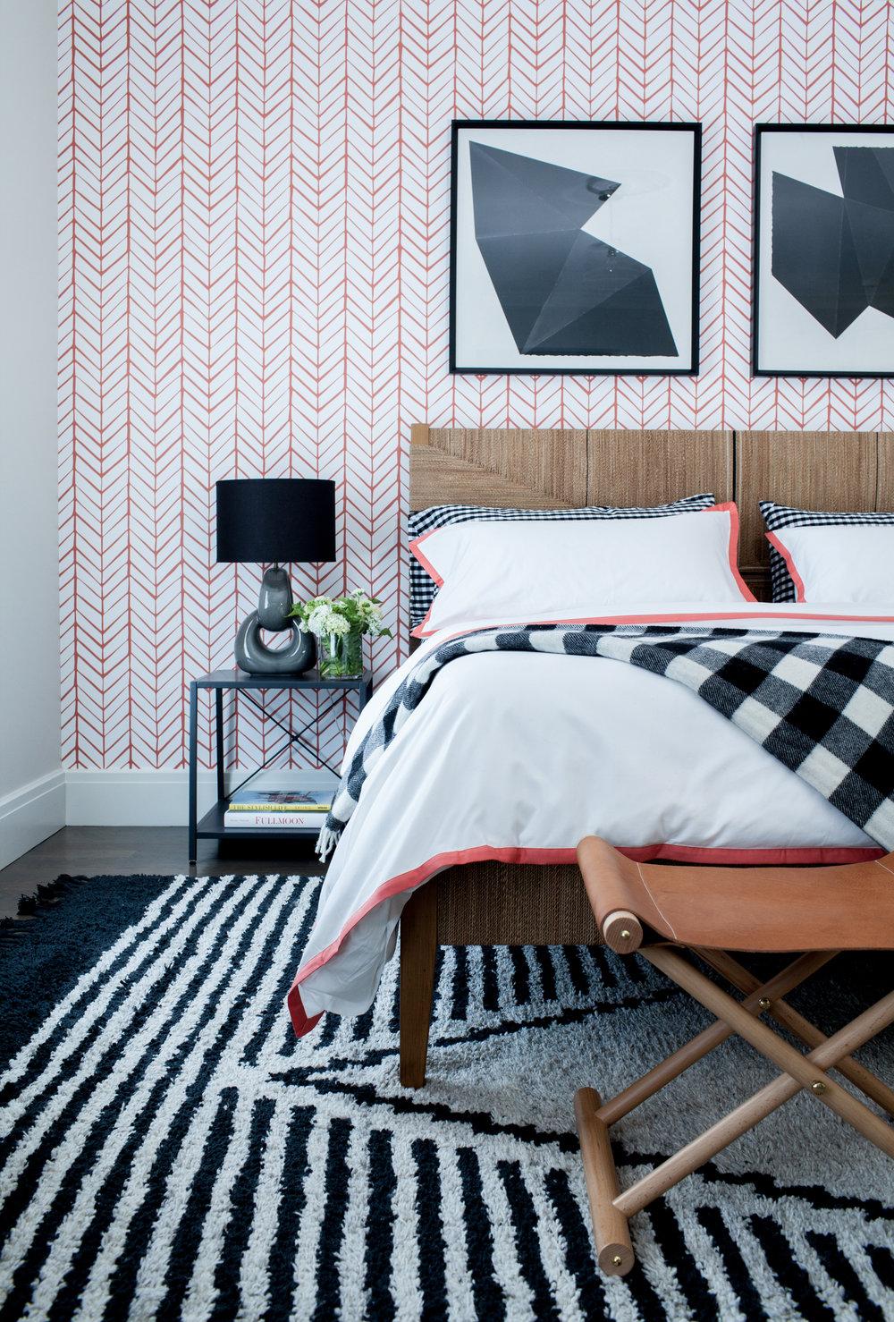 westport modern farmhouse by chango co guest bedroom detailjpg - Modern Farmhouse Bedroom