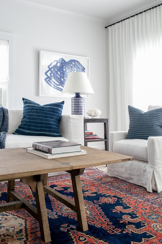 East Hampton New Traditional   Living Room Detail.