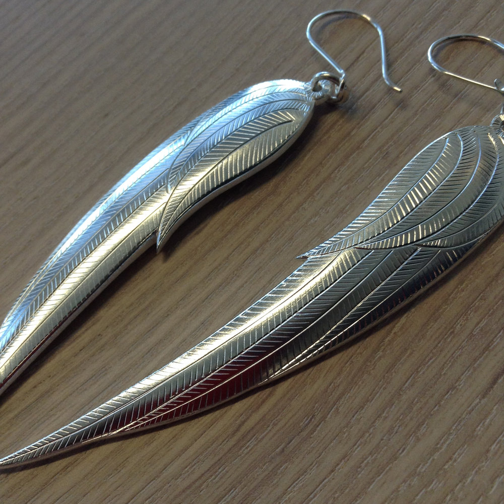 unique earrings, silver