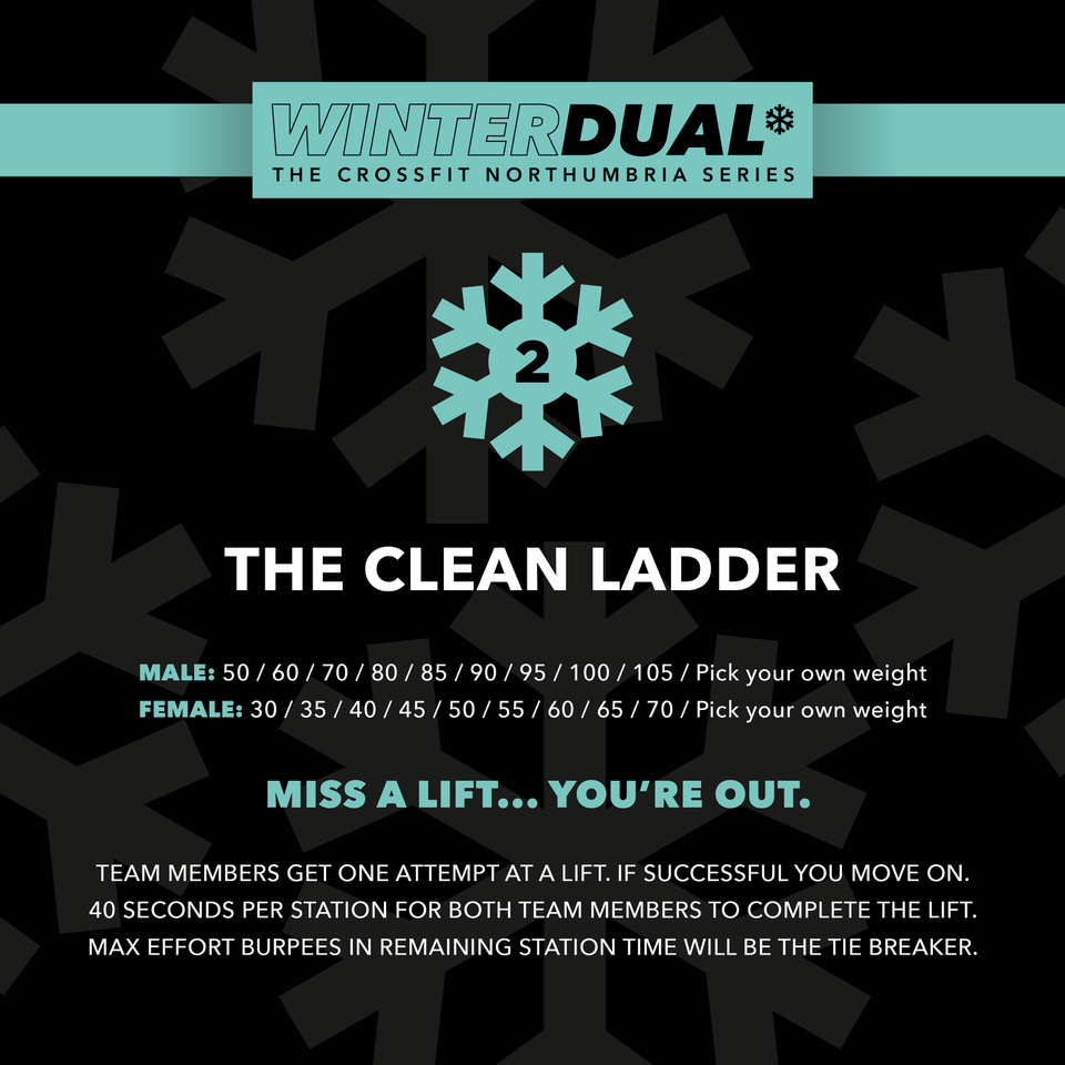 Event 2 - The Winter Dual - Hang clean ladder