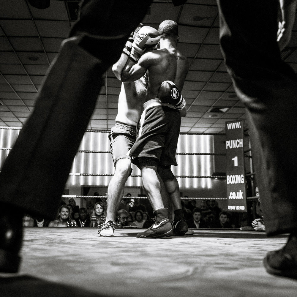 White collar boxing show at The Boston Arms, London, 2013.