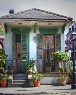 A Traditional New Orleans Shotgun House