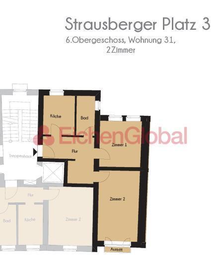 Schickes neu möbliertes Business Apartment Wohnung zum Mieten am Strausberger Platz Berlin - 11.jpg