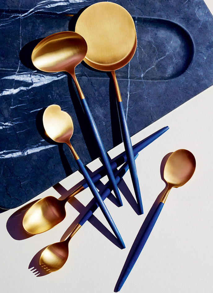 David Collins Studio & Cutipol Spoon Set via    Wallpaper