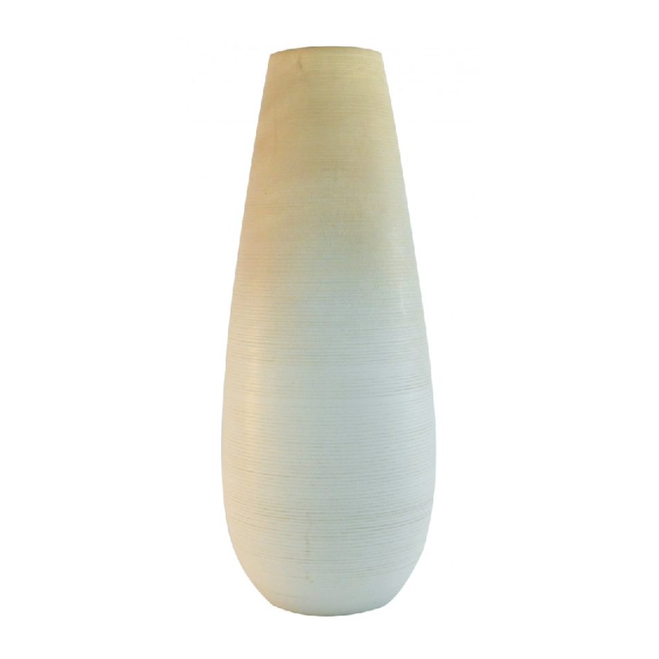 Dassie Ombre White Mango Wood Vase from Trouva