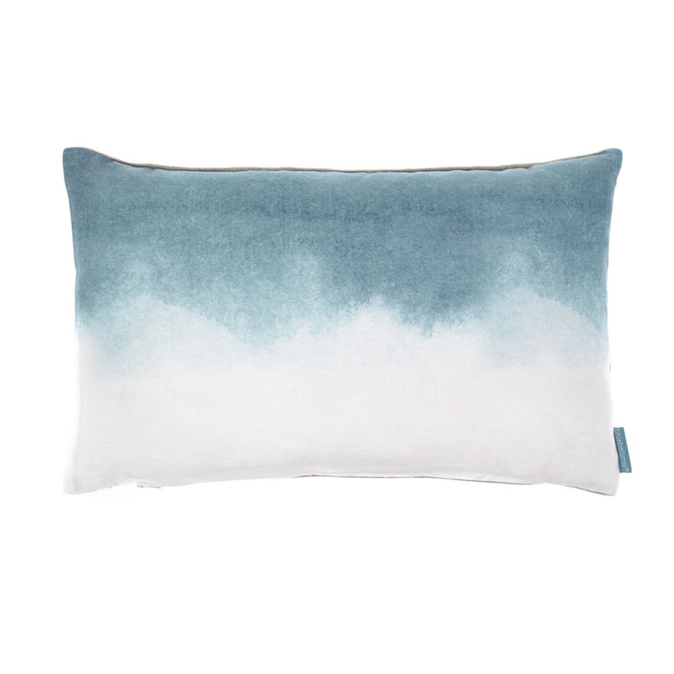 Teal Landscape Ombre Cushion from Bluebellgrey