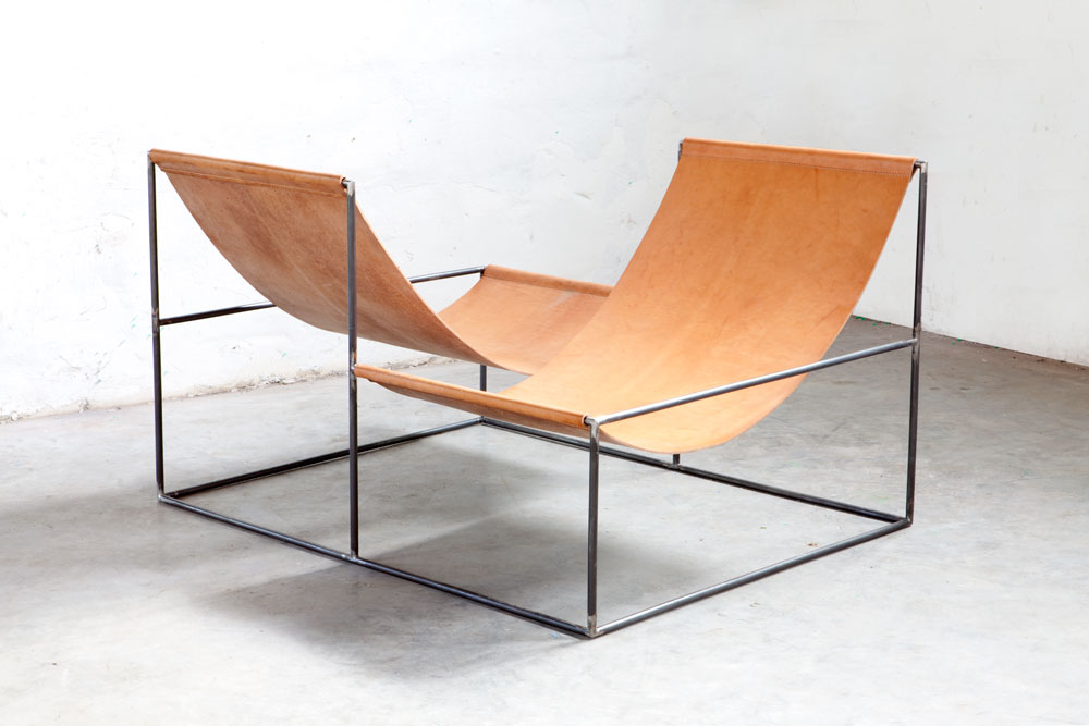 Crossed Double Seat - by Muller Van Severen