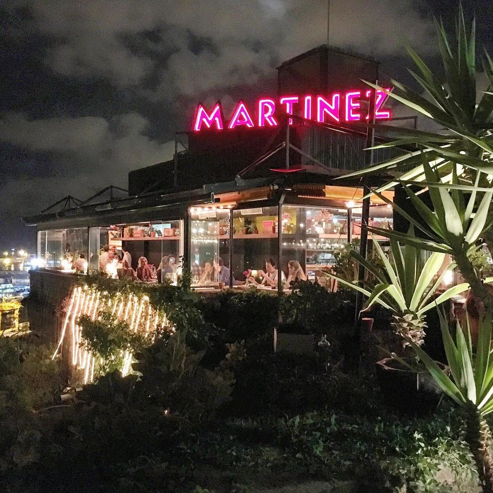 Martinez restaurant - Situated on Montjuic mountain with great views over the port of Barcelona. A colourful and fun venue, it makes a change from the busy central restaurants and is a lovely place to sit outside on a warm evening. The menu offers a good selection of seafood and paella dishes. We would definitely recommend going or a big seafood paella, great for sharing with friends.