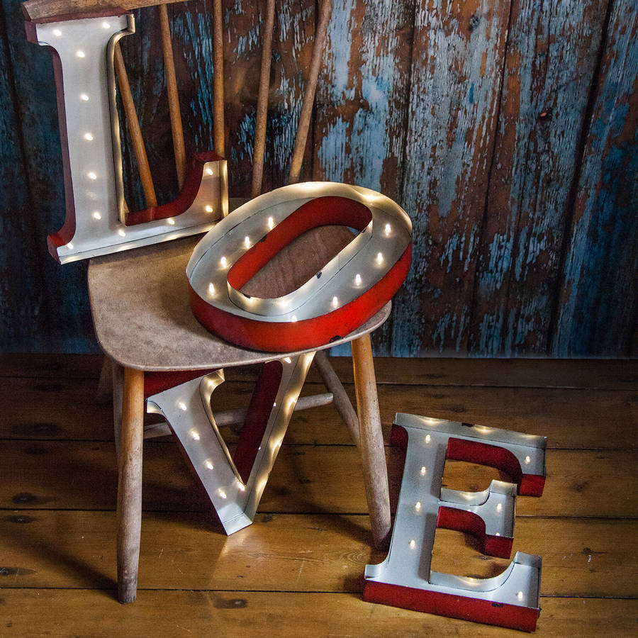 Metal 'Love' Letter Lights - Metal 'Love' Letter Lights by Rocket and Fox bring soulful style home with these cool marquee letters.£137.00Available at www.rocketandfox.com