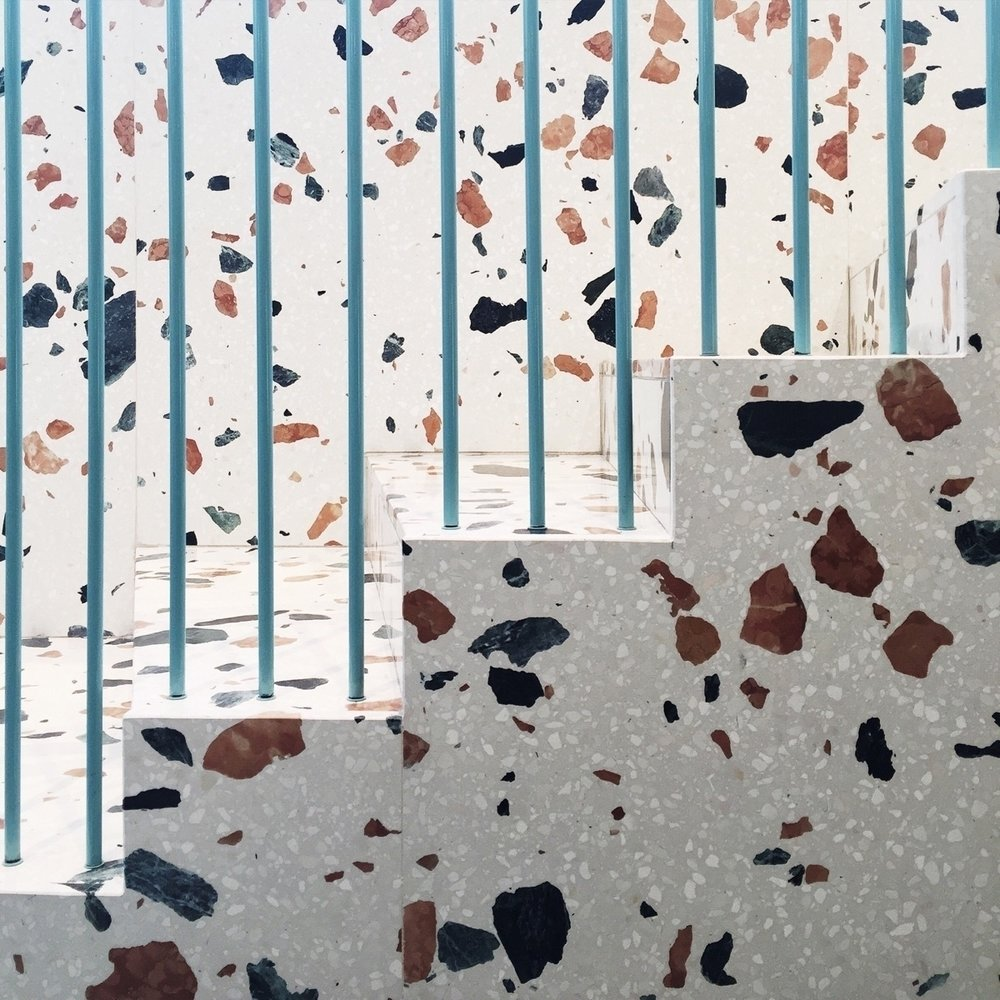 Taking it back to its original purpose, terrazzo is a functional and design-led choice for walls and flooring, both inside and out. - Image via Design Soda