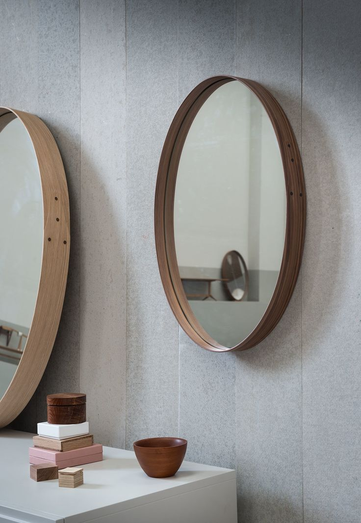 5. Pinch - Last but by no means least is the beautifully simple Iona mirror from Pinch Design. Epitomising the ethos of simplistic, quality design that Pinch is so well known for, the Iona oval mirror is beautifully crafted in a choice of white oiled oak or black American walnut. The wood is gently manipulated to create the mirror's curved frame and secured with a classic shaker-style joint with brass rivet detail to one side. We love the combination of the wood's natural grains and knots teamed with the pared-back silhouette – definitely one for the lust list!Iona Mirror: From £655.00pinchdesign.comconranshop.co.uk