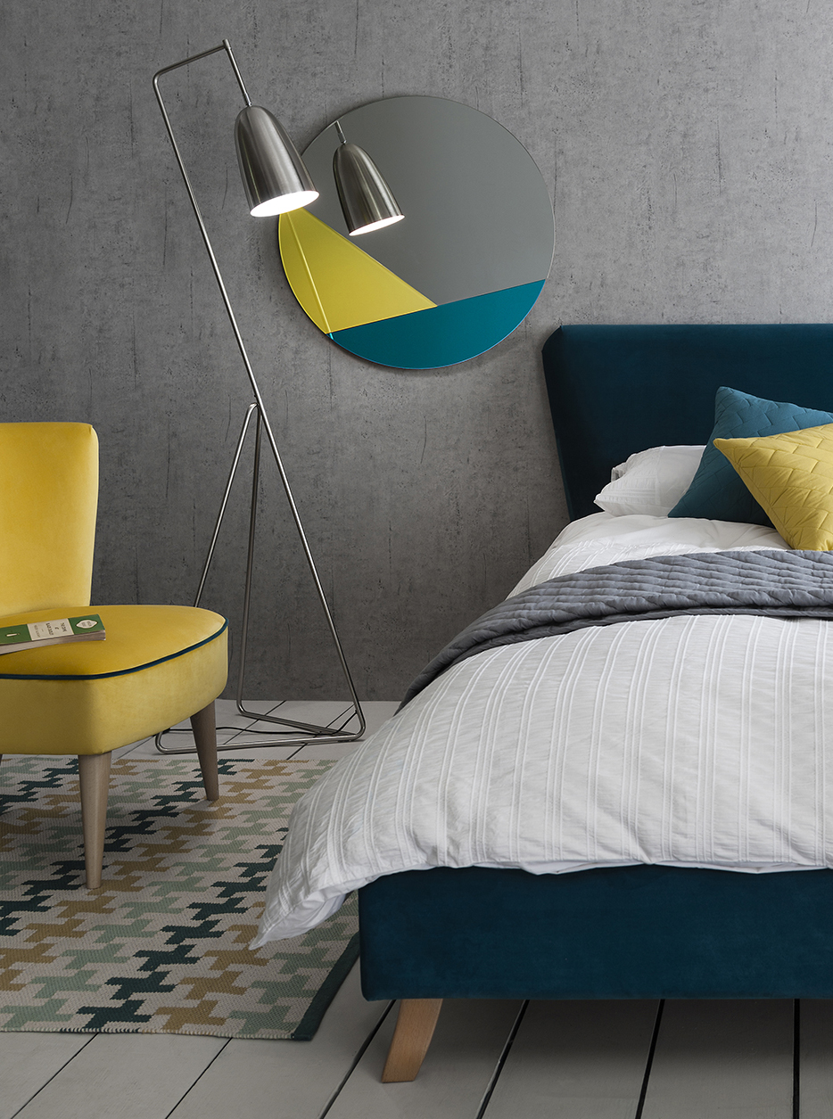 3. Mood Collections - Coloured glass has been a big trend for mirrors this season. Team that with geometric shapes and you've got yourself a showstopper! We love this Coxbridge circular mirror from new interiors brand on the block, Mood Collections. The geometric-shaped inlaid glass comes in four vibrant colour palettes, with tones of turquoise, grey and canary yellow combined to complement a breadth of interior schemes. Colour match with your soft furnishings and accessories for a beautifully curated room.Coxbridge Mirror: £368.00Available in four coloursmoodcollections.co.uk