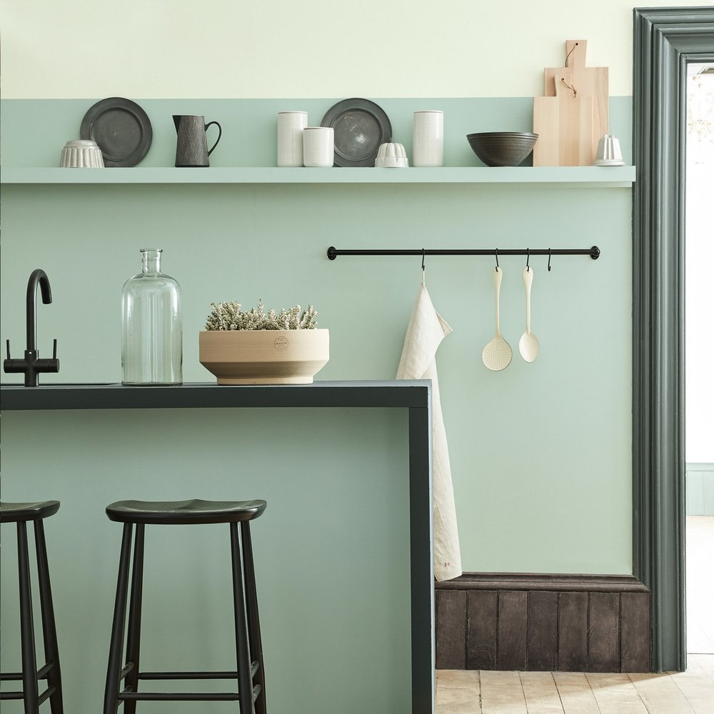 5. Little Greene - Aquamarine - Last but by no means least is the lightest of our paint picks, Little Greene's Aquamarine. A playful and light-hearted shade, the cool minty-ness of this colour evokes a sense of tranquillity that lends it wonderfully to functional spaces such as kitchens and bathrooms. The introduction of blue / green undertones ensures that it doesn't fall into the sickly sweet category, making it the perfect partner for contemporary spaces. We suggest combining an Aquamarine painted wall with dark woods and black contrasting accents, offset with shades of putty pink and off white. £47.00 for 2.5L Intelligent Matt Emulsionwww.littlegreene.com