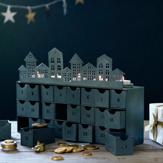 Do it yourself - The gift that just keeps giving, the Zinc Village Advent Calendar from Rowen & Wren features a charming festive village scene, with 24 individual drawers that can be filled as you wish. This beautiful calendar takes influence from traditional Nordic decorations, and is designed to be enjoyed in the home, year after year. Opt for chocolate coins and homemade sweet treats, or get creative with mini gifts that will delight. Shop the Village Advent Calendar here, for £62.
