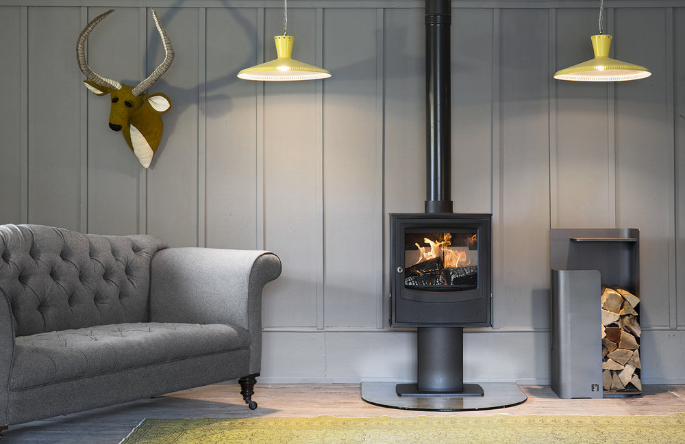 Wood-burning warmers - You can't beat a wood-burning stove to keep winter's chill at bay. Available in black or grey, Arada's Farringdon small eco stove gives off 4.9kW of heat, and exceeds Ecodesign standards when burning wood or solid fuel. There's a range of removable door handle designs, plus it's direct-air compatible, meaning the fire preserves warmth by getting all of its necessary oxygen from the surrounding room, instead of drawing air from inside. Explore the range at www.aradastoves.com