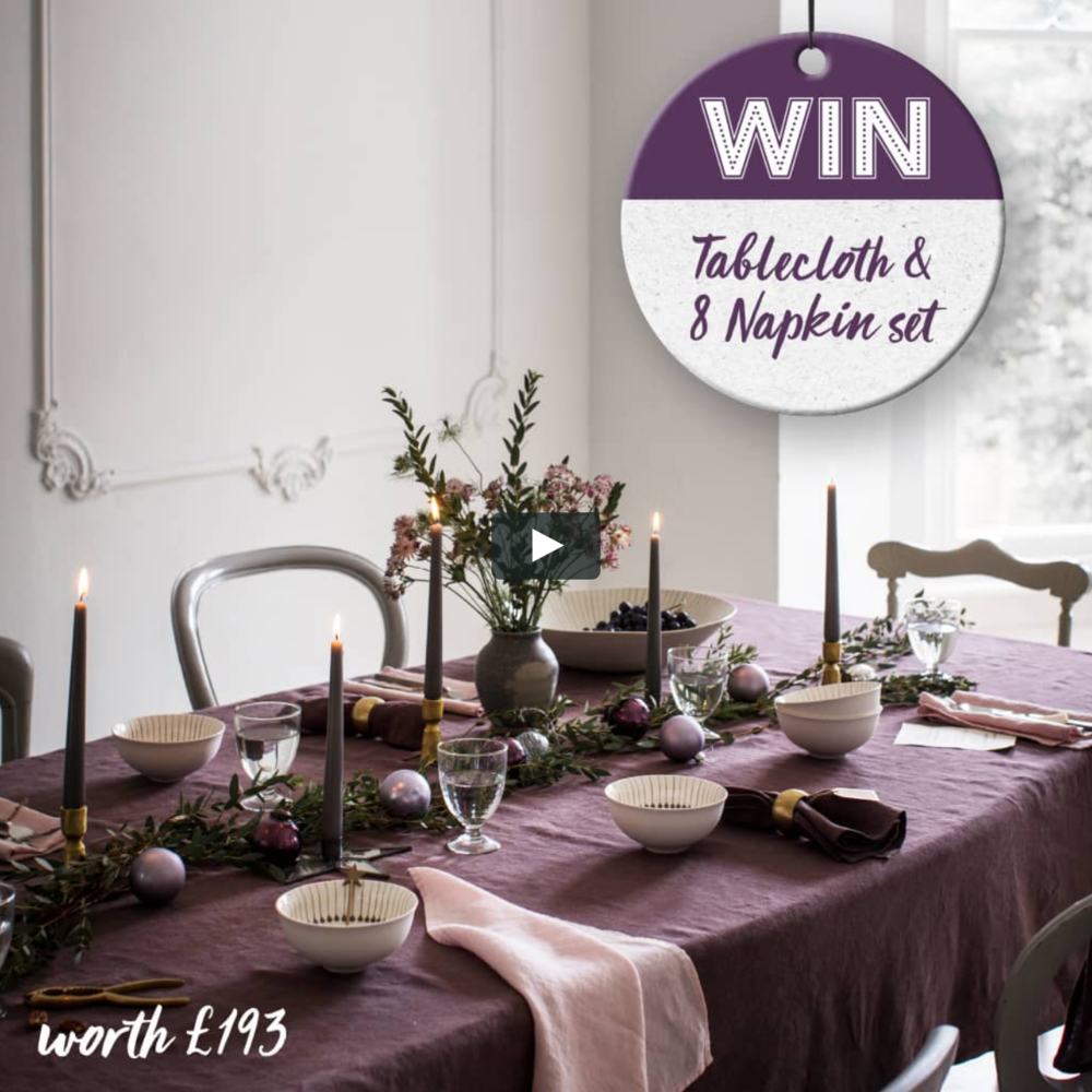 Win a tablecloth and 8 napkins from The Linen Works!