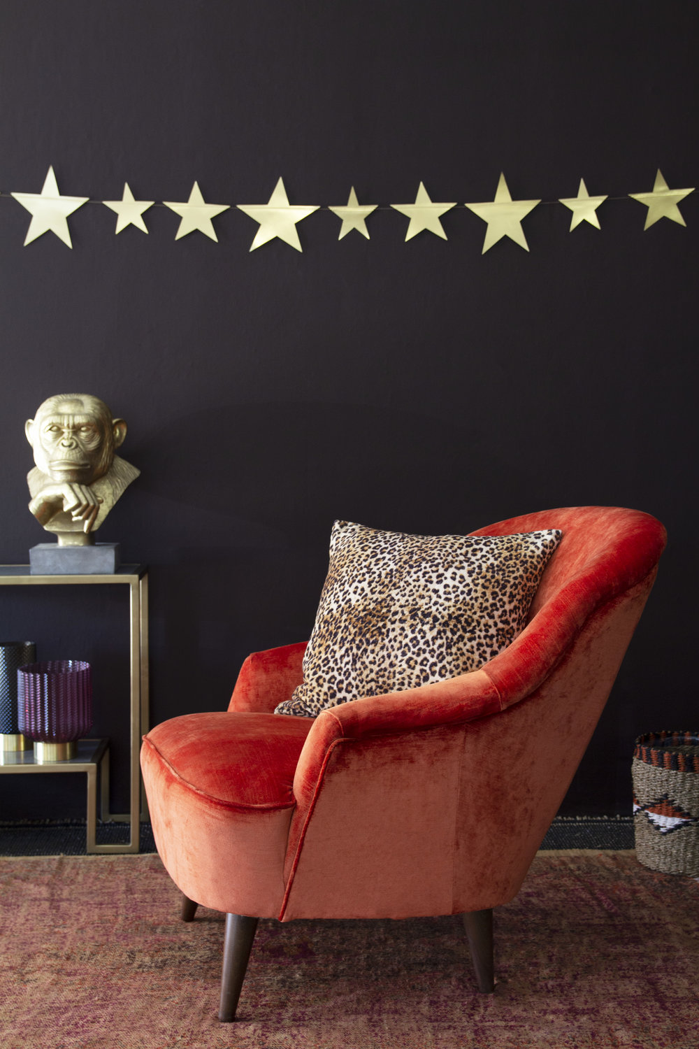 rockettstgeorge_Vintage Style Velvet Cocktail Chair in Pinta Armchair In Loriano Orange_stars_highres.jpg
