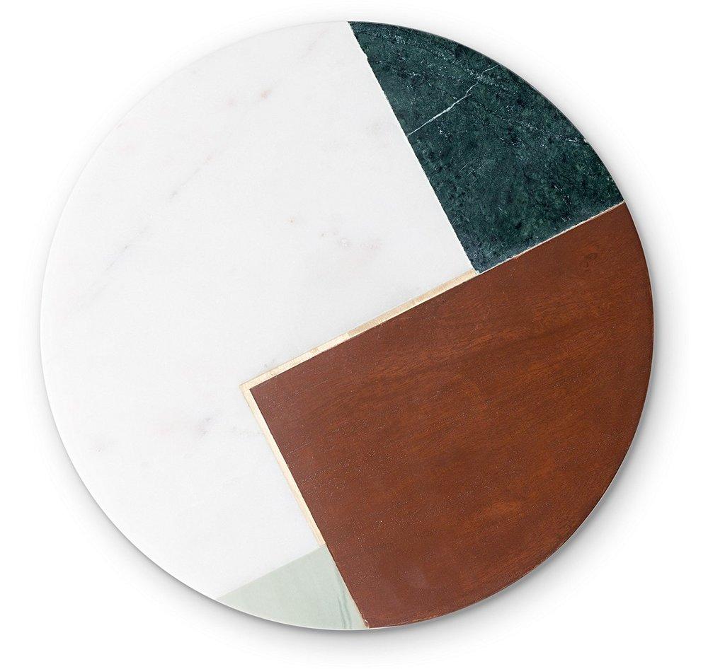 Oliver Bonas Marble & Wood Tray - £28
