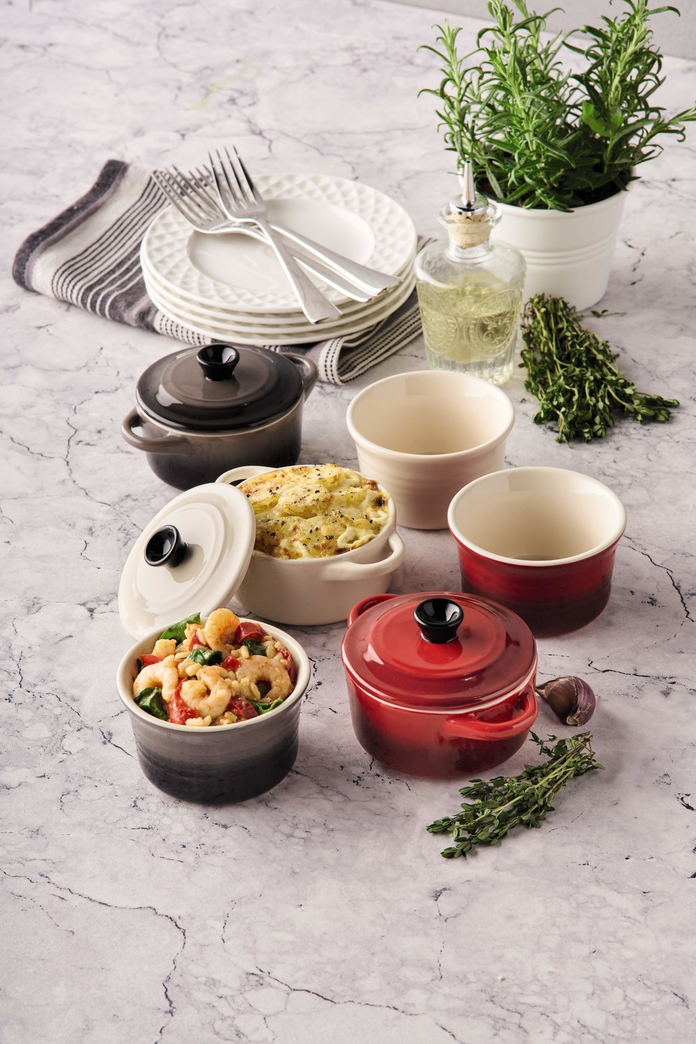 - Each item is suitable for use with all heat sources – gas, electric and induction hobs - and can be placed in ovens up to 200 degrees Celsius, making them ideal for creating those perfect autumnal stews and roasts.The range consists of a shallow and regular casserole dish, tagine, skillet, roasting dish, grill tray and frying pan. So, if you've been eyeing up luxury brand Le Creuset's colourful cast iron pieces, this collection is the perfect budget-friendly alternative. With the cheapest item only costing £25, purchasing this range could save you over £600 against its Le Creuset counterparts.