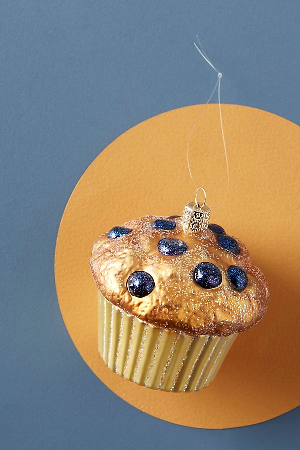 Blueberry Muffin Ornament - £18