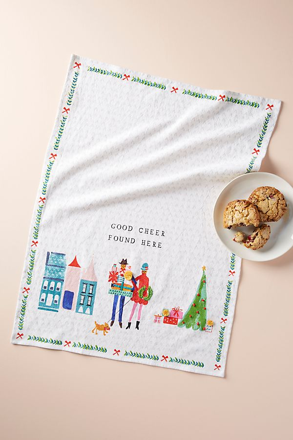Good Cheer Dish Towel - £16