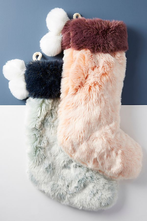 Faux Fur Stocking - £36