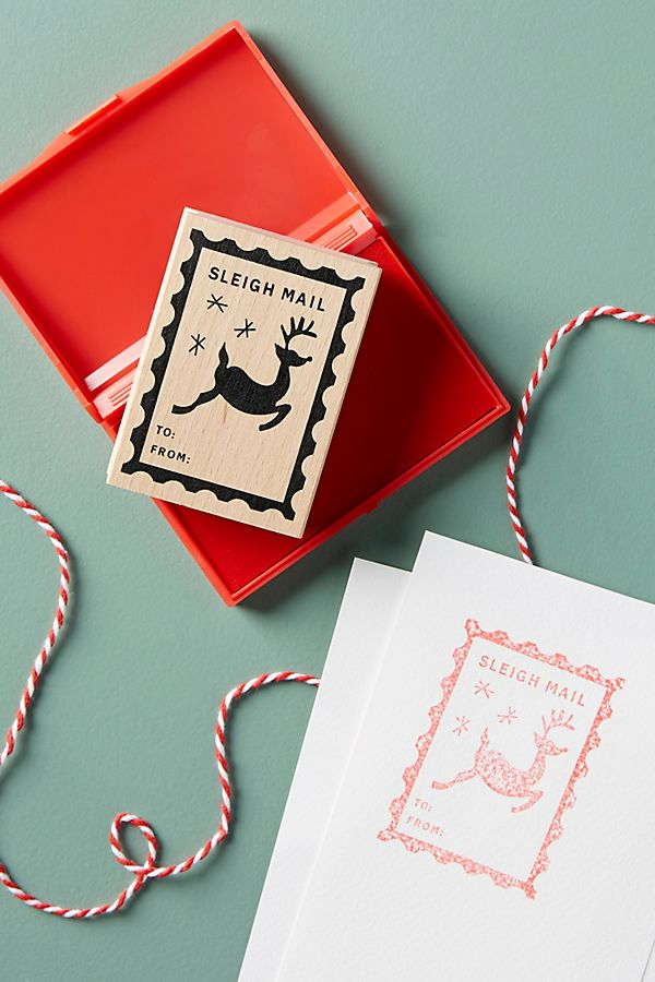 Sleigh Mail Stamp Set - £10