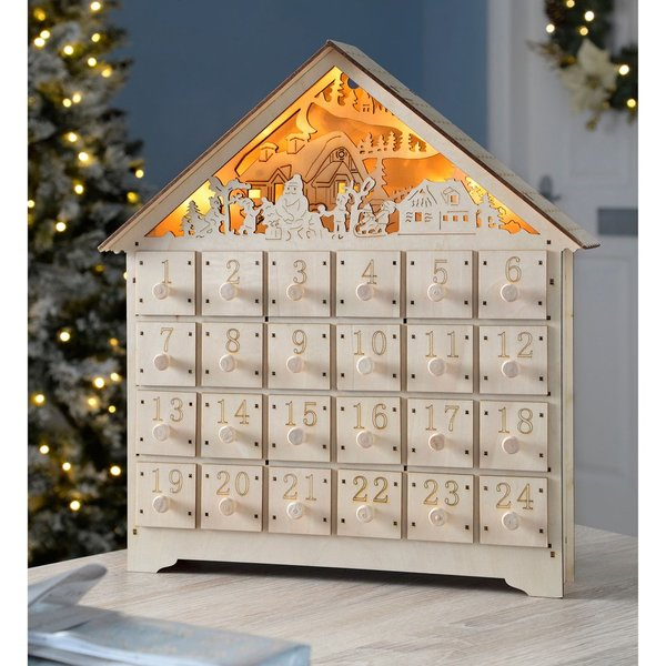 Pre-Lit Wooden Village Scene Christmas Advent Calendar from Wayfair - One to keep for many years to come, the village advent calendar from Wayfair can be filled with gifts of your choice and is perfect for treating your loved ones in the lead up to Christmas.£27.99