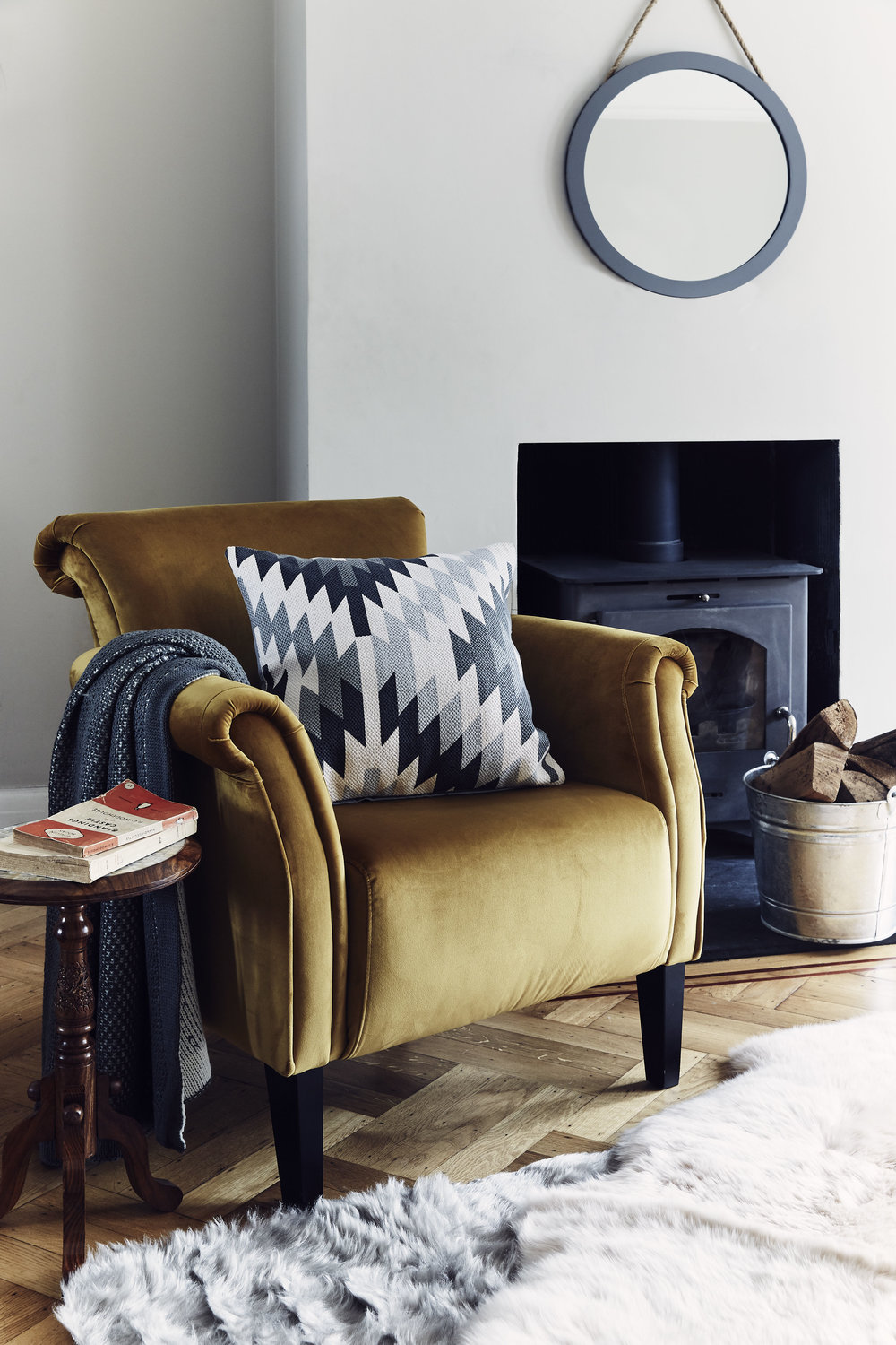 VELVET CHAIRS - Velvet chairs come in all shapes and sizes and are versatile enough to be used in almost any room of the home. From a cosy armchair by the fire to on-trend velvet dining chairs and bedroom benches, velvet is set to take over every room in 2019, and we love it!JD Williams Desire Accent Chair in Saffron: £199.00