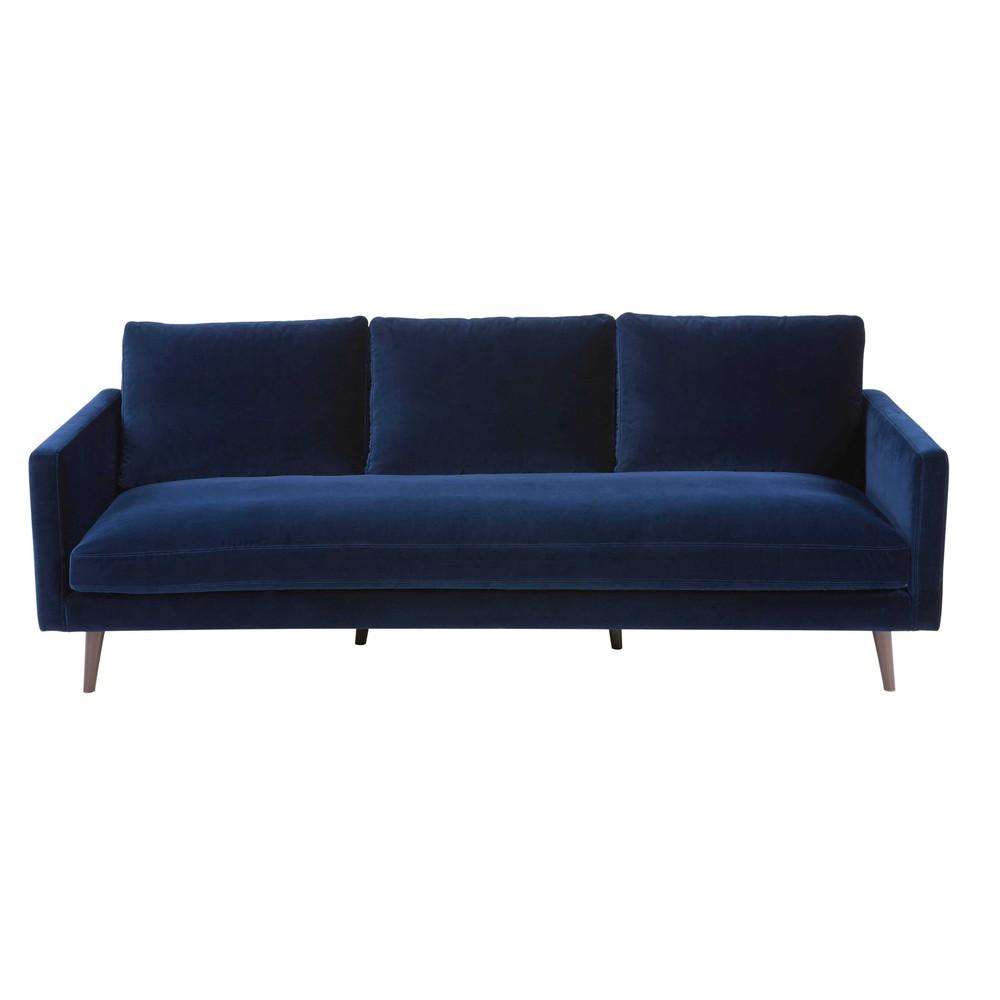 Kant Midnight Blue Velvet Sofa from Maison du Monde: £1049.00