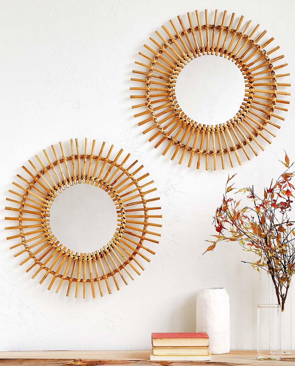Round Bamboo Mirror from Zara Home, £69.99