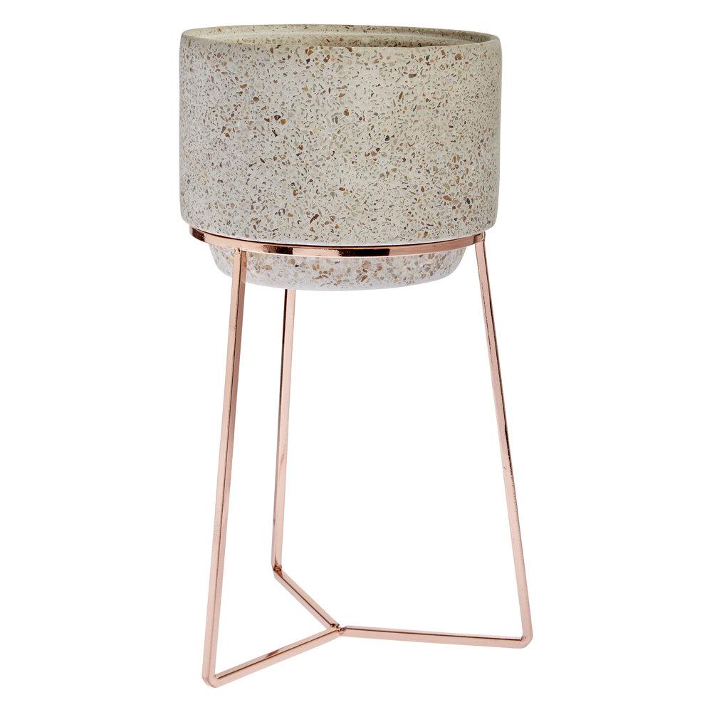 Copper and Concrete Planter - £25