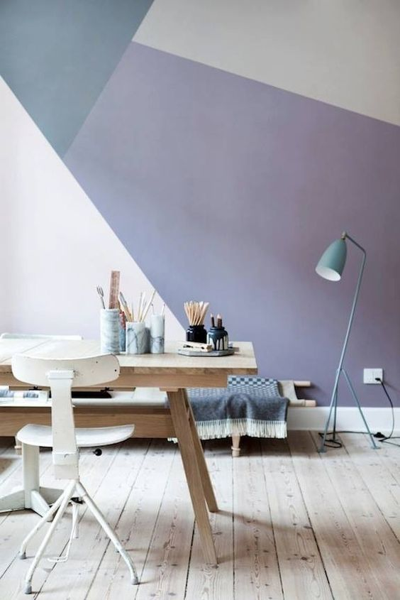 2. Geometric Paint - Geometric patterns and designs have been appearing everywhere in recent years and its latest development sees walls painted in geometric motifs taking centre stage. With searches up by 225% this is definitely a look to consider for your next decorating project.