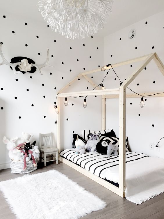 14. House Frame Floor Bed - Give your kids a bed they can call home with these fun new toddler beds. The perfect accompaniment to your Scandi or rustic interior design scheme, these beds are both stylish and functional – if you want more inspiration for your children's rooms head to our favourite online spot, Nubie.