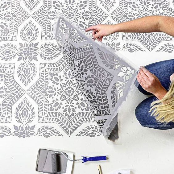 8. Painted Floor Tiles - Want to embrace the new geometric flooring look without having to rip up your pre-existing tiles? Pinterest users have been taking to painting floor tiles themselves with mosaic patterns; and with searches for 'painted floor tiles' up 1276% it looks like this crafty project could be the way forward.
