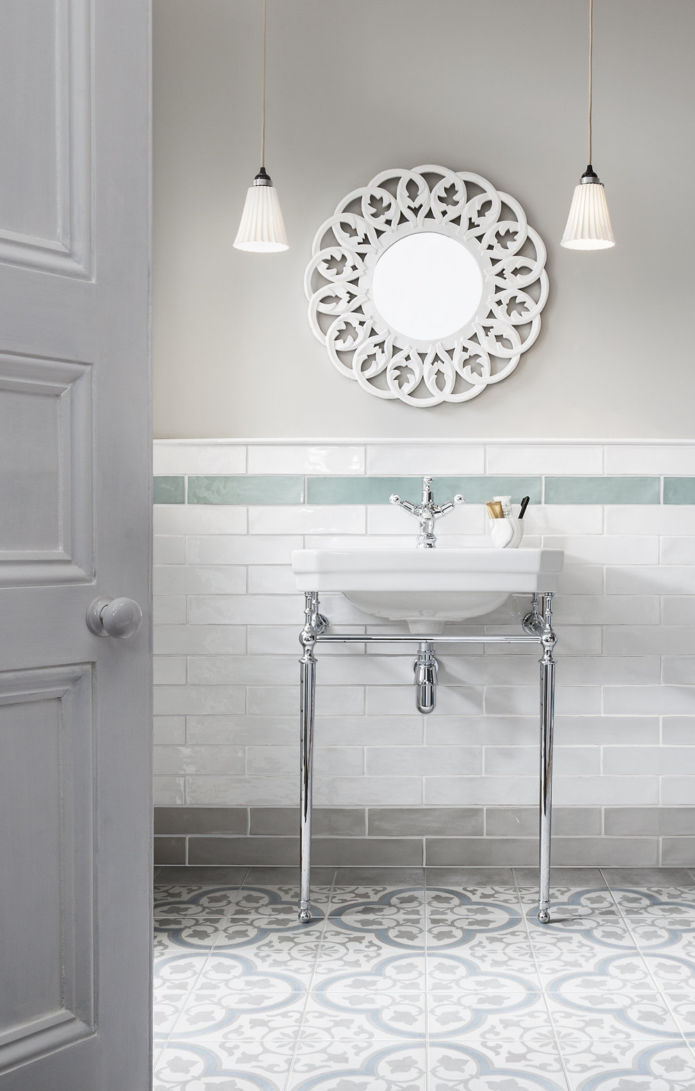 Havana Silver Ornate Matt Tile from Gemini Tiles: £49.99 per m2