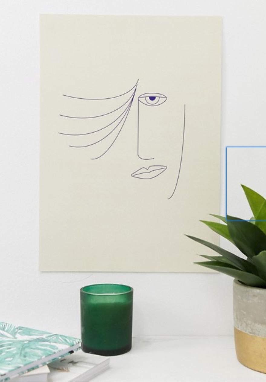Moxon face sketch A3 wall art £10.00