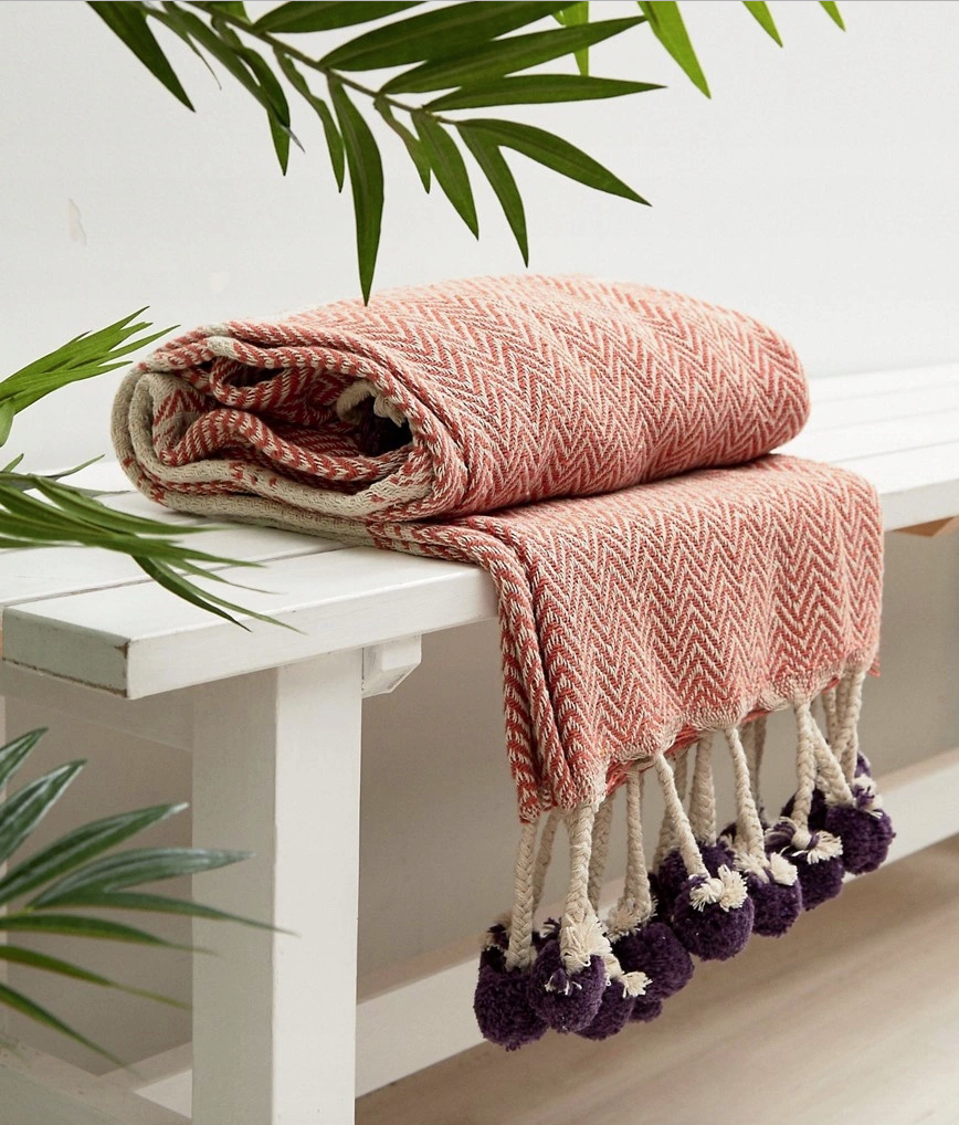 Ian Snow tassel cotton throw £22.00
