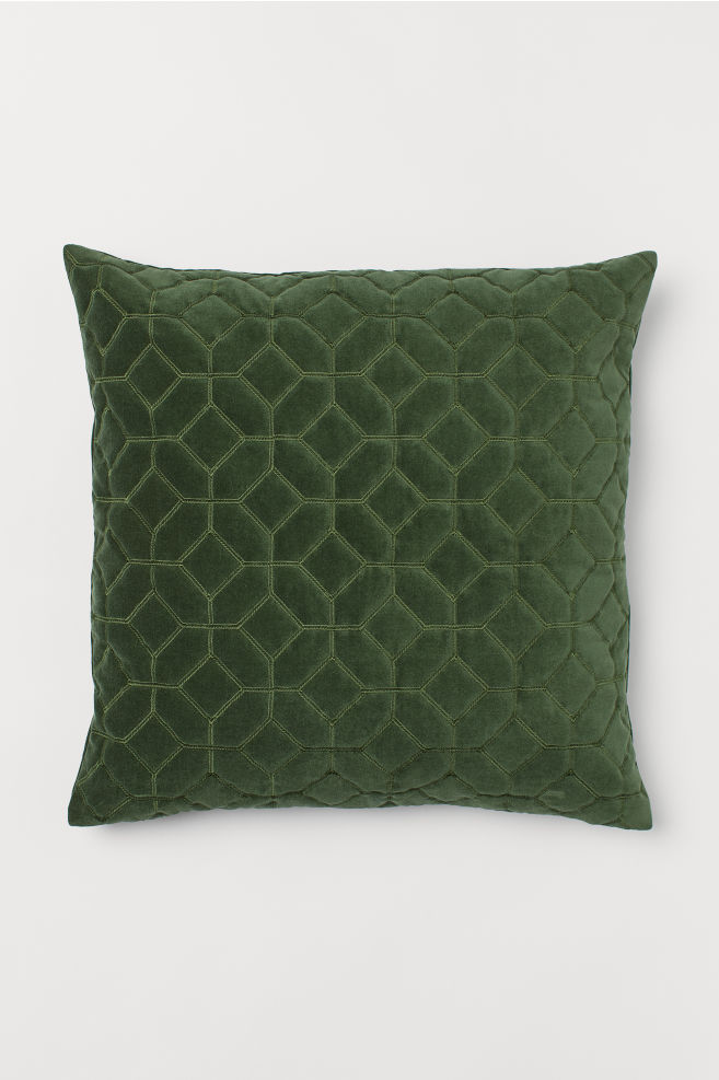 Quilted Velvet Cushion Cover - £12.99