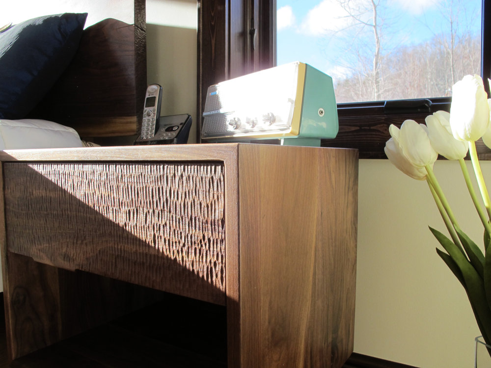 Textured Drawer Fronts in Walnut