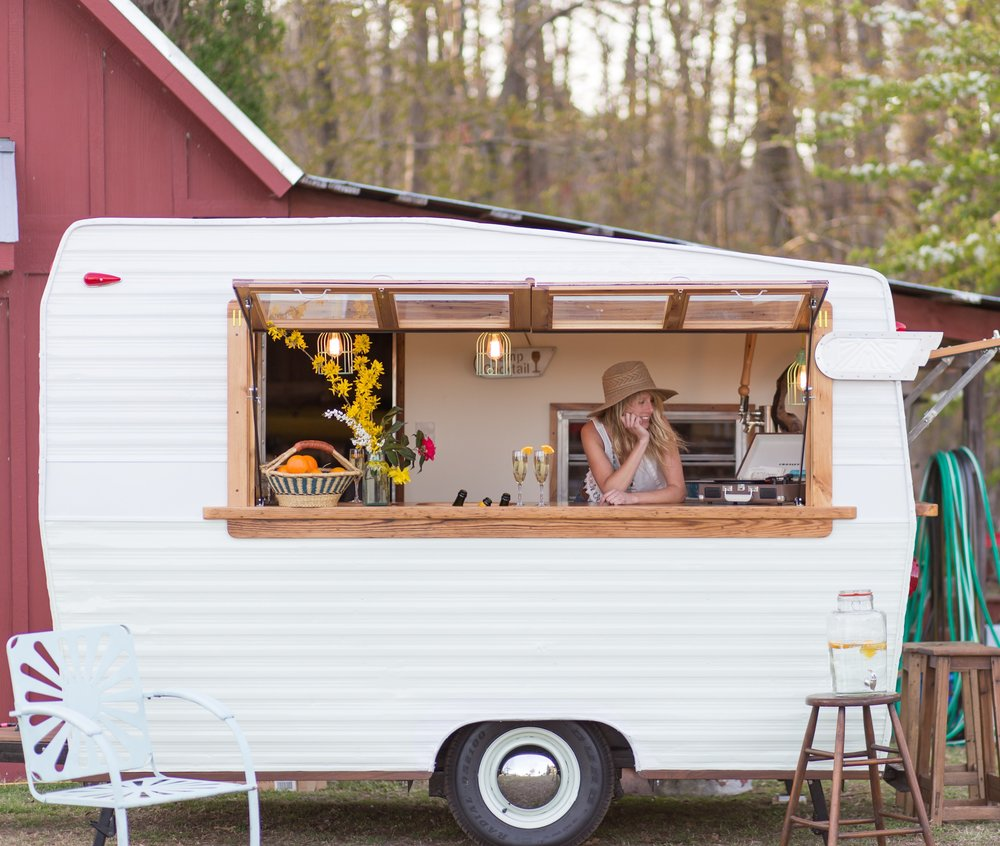 Vintage Shasta turned Mobile Bar For Hire