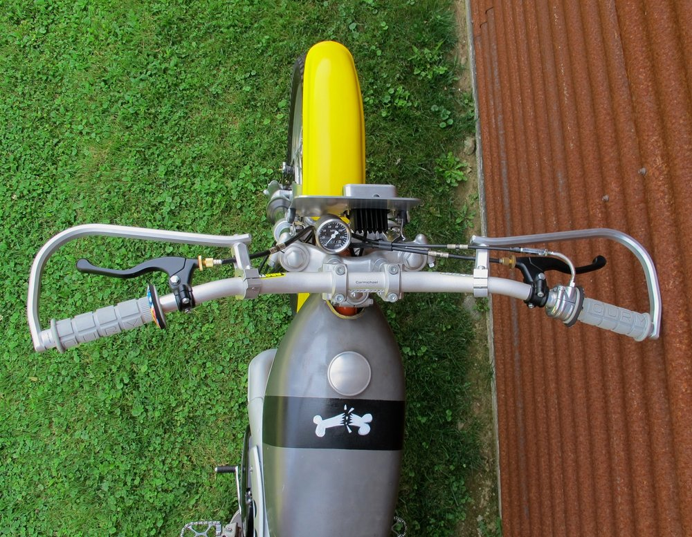 motorcross bars on vintage enduro motorcycle.JPG